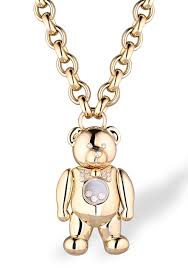 chopard happy diamonds teddy bear large pendant