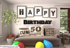 Happy Birthday 50 Jahre Wohnzimmer Sofa Mit Kissen Und Spruchjpg