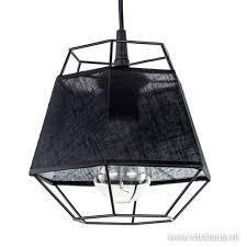 Kleine Hanglamp Draad Zwart Met Stof Straluma