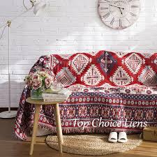 details about red cream bohemian cotton throw blanket bed cover picnic rug 130 180 180 220cm
