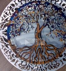 tree of life metal wall art heated 2pc  on 3d wall art life tree with tree of life metal wall art humdinger designs