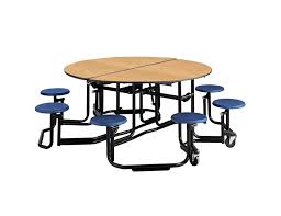 ki round cafeteria tables w individual stool seating