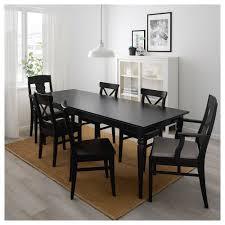 Ingatorp Ingolf Tisch Und 6 Stühle Schwarz Nolhaga Graubeige In