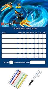 Lego Batman Reward Chart Lego Ninjago Re Usable Behaviour Reward Chart By Little