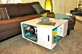 wooden crate coffee table for dog kennel side table dog crate coffee table l wooden