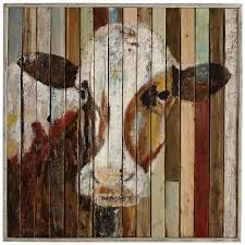 pretty looking pier one wall art home designing inspiration belle of the farm cow 1 imports