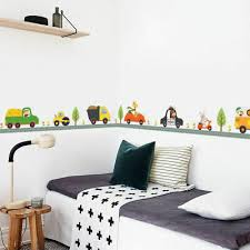animal car wall stickers for kids room