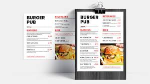 Free Downloadable Restaurant Menu Templates Lightspeed Pos