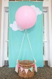 kid s party photobooth idea a hot air balloon via anna gonda photography honest party hot air balloons air balloon and photo booth