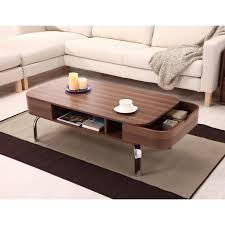 furniture of america lawson modern walnut 2 drawer coffee table com
