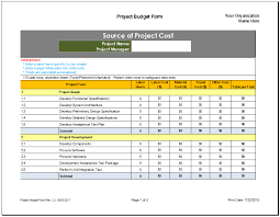 financial planner template project budget planner template budget templates for excel