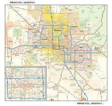 phoenix metro wall map  mapscom