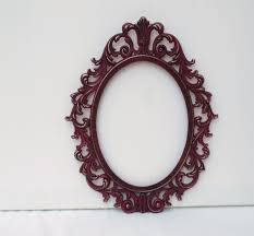 antique oval frame ornate.  Antique Ornate Vintage Oval Frame Deep Plum French Country Shabby Chic Regency Home  Decor To Antique Oval Frame O