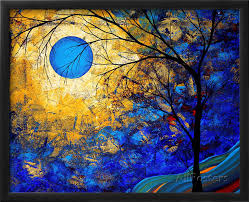 gift modern art landscape renaissance oil painting trees beautiful color high quality hand painted decorate your living room in painting calligraphy from