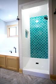 moroccan bathroom vanity blue fish scale tile complimented by white subway  design remodel vanities