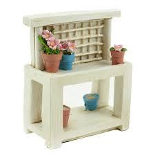 white garden table stand miniature