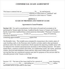 Free Commercial Lease Agreements Forms Free Commercial Lease Form Ohye Mcpgroup Co
