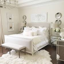 bedroom with mirrored furniture. Neutral Easy Master Bedroom With Restoration Hardware Bed, White Wall, Mirrored Furniture, Fur Furniture I
