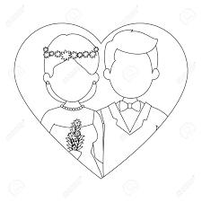 かわいいカップルがちょうど花花束ベクトル イラスト デザインと結婚してください