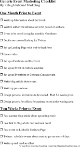 Download Marketing Checklist Templates For Free Formtemplate