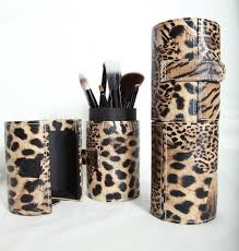 leopard makeup brush holder