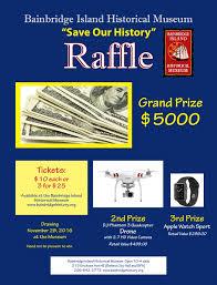 save our history raffle bainbridge island historical museum raffle poster 16