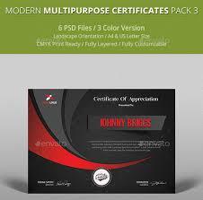 Certificate Template Photoshop Top 3 Modern Certificate Template Psd Download Designs Hub