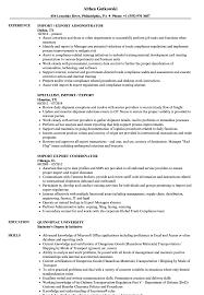 Import Resume Sample Import Export Resume Samples Velvet Jobs 8
