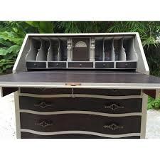 image of vintage hand painted secretary desk