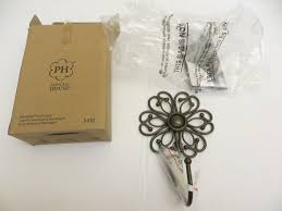 5418 princess house meridian flower wall hook 1 hostess only line new in box