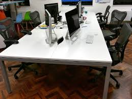 office desk workstation. Professional Office Desk Workstation Bench White 6 Positions /