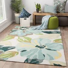 blue and green area rugs isidore handmade fl rug 7 6 x 9 on