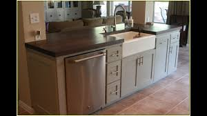 Kitchen Islands With Sink And Dishwasher Youtube