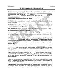 Ground Lease Agreement - Print & Download | Legal Templates