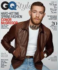 conor mcgregor covers the spring 2017 issue of gq style mcgregor sports a brown leather