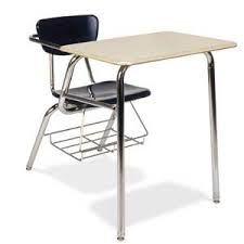 school desk. 3400br-solid-plastic-top-chair-desk-with-bookrack School Desk