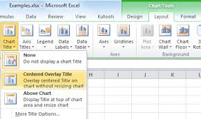 How To Insert Chart Title How To Add A Chart Title In Excel