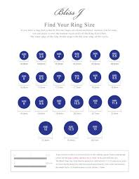Free Ring Size Chart Blissj Ring Size Chart For Free Not For Sale Download It For Free