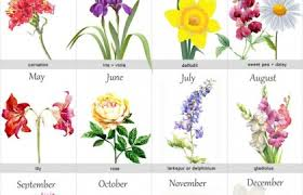 Month Flowers Chart Birth Flowers Chart Tattoos Birth Month Flowers Birth