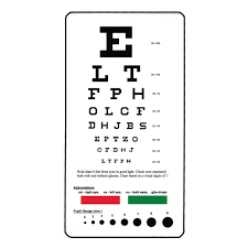 Eye Exam Snellen Chart Pocket Snellen Eye Chart