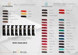 Phibrows Color Chart Phiseller By Zlata Kicin Farbpalette