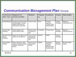 Communication Plan Template Word Project Communication Plan Template Soohongp