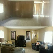 Single Wide Mobile Home Don't Be Afraid To Paint Your Wood Paneling Mesmerizing Modern Bedroom Paint Model Remodelling