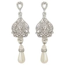 uk ideas elegant pearl drop bridal earrings view larger
