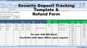 Rent Deposit Return Letter And Tracking, Security Deposit Deductions -