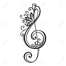 Floral Treble Clef Tattoos Google Search Tattoos Music Tattoos