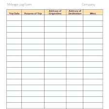 Mileage Template Form Stagingusasport Info