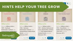 Build Your Family Tree With Hints Findmypast Youtube