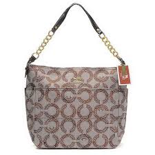 Coach Legacy Monogram Medium Apricot Shoulder Bags EHT