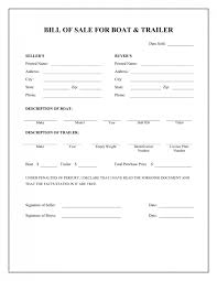 watercraft bill of sale free free boat trailer bill of sale form download pdf word